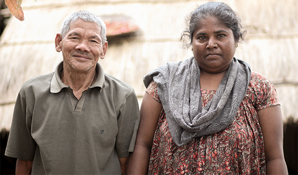 Hirmati Mahato | Hirmati Mahato with husband | Asal Chhimekee Nepal | Rural Development in Nepal | Community Empowerment | All round transformation