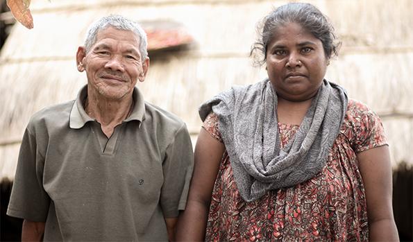 Hirmati Mahato | Hirmati Mahato with husband | Asal Chhimekee Nepal | Rural Development in Nepal | Community Empowerment | All round transformation